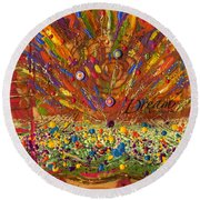 Dream The Impossible Round Beach Towel
