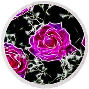 Dream With Roses Round Beach Towel