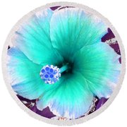 Dreamflower Round Beach Towel