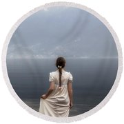Dreaming In Water Round Beach Towel