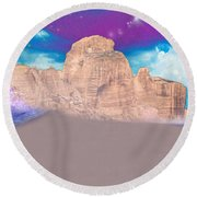 Dreaming Landscape Round Beach Towel by Augusta Stylianou