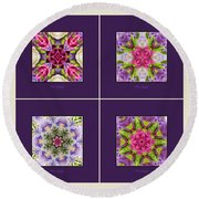 Dreaming Of My Garden Group 1 Round Beach Towel