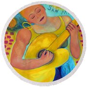 Dreaming Of San Miguel Round Beach Towel