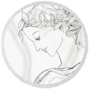 Dreaming Of The Dance Round Beach Towel