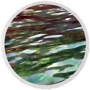 Dreaming On The Water Round Beach Towel