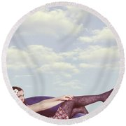Dreaming To Fly Round Beach Towel by Joana Kruse