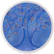 Dreaming Tree By Jrr Round Beach Towel