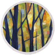 Dreaming Trees 2 Round Beach Towel