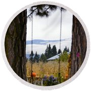Dreams Of The Swing Round Beach Towel