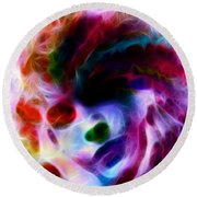 Dreamy Face Round Beach Towel