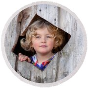 Dreamy Girl Round Beach Towel