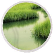Dreamy Marshland Round Beach Towel