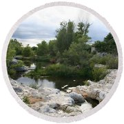 Dreamy River Round Beach Towel