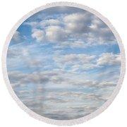 Dreamy Sky Round Beach Towel