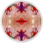 Drenched In Awareness Abstract Healing Artwork By Omaste Witkows Round Beach Towel