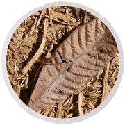 Dried Leaf Round Beach Towel