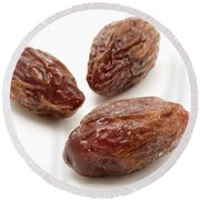 Dried Medjool Dates Round Beach Towel