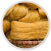 Dried Rice Noodles 04 Round Beach Towel
