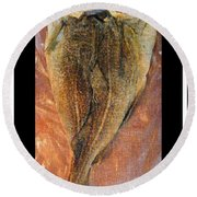 Dried Salted Codfish Back Round Beach Towel