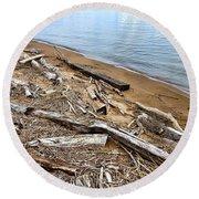 Drifted Woods Round Beach Towel