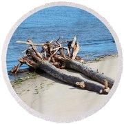 Driftwood Round Beach Towel