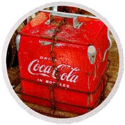 Drink Coke In Bottles Round Beach Towel