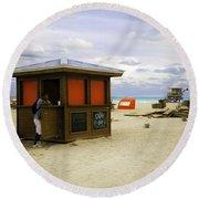 Drink Of The Day - Miami Beach - Florida Round Beach Towel