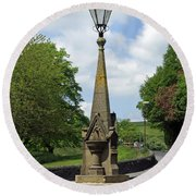 Drinking Fountain - Bakewell Round Beach Towel
