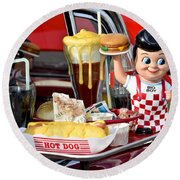 Drive-in Food Classic Round Beach Towel