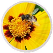 Drone Bee Round Beach Towel