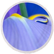 Drop Of Spring Round Beach Towel