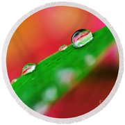Droplets Round Beach Towel