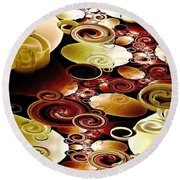 Drops And Ripples Round Beach Towel