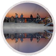 Drummers Circle Round Beach Towel
