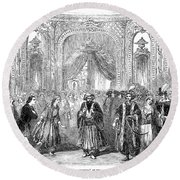 Drury Lane Theatre, 1854 Round Beach Towel