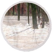 Dry Creek-but Swift Waters Round Beach Towel
