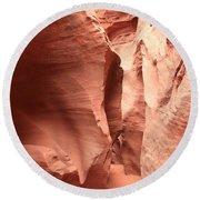 Dry Fork Sandstone Round Beach Towel by Adam Jewell