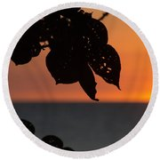 Dry Season Sunset Round Beach Towel