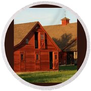 Dual Barns-3811 Round Beach Towel