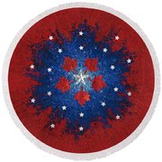 Dual Citizenship 2 Round Beach Towel by First Star Art