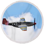 Dual Control Tp-51c Mustang Round Beach Towel