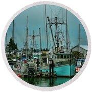 Duashala Fishing Boat Hdrbt4247-13 Round Beach Towel