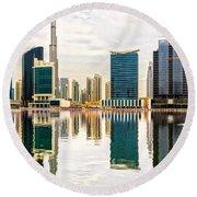 Dubai Downtown -  Round Beach Towel