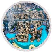 Dubai Downtown - Uae Round Beach Towel