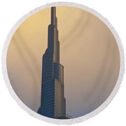 Dubai, Uaedetail Of The Burj Khalifa Round Beach Towel