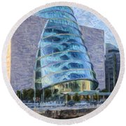 Dublin Convention Centre Republic Of Ireland Round Beach Towel