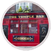 Dublin Ireland - The Temple Bar Round Beach Towel