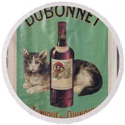 Dubonnet Wine Tonic Dsc05585 Round Beach Towel