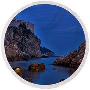 Dubrovnik Bay Round Beach Towel