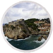 Dubrovnik In Focus Round Beach Towel